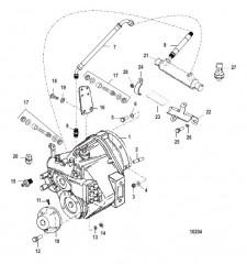 Схема Трансмиссия и связанные детали (BORG-WARNER 5000)