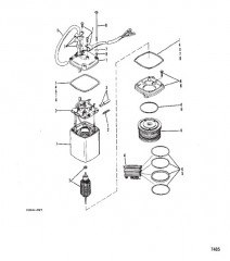 Схема Насос усилителя дифферента (Прямоугольный двигатель Eaton)