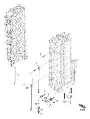Схема Компоненты блока цилиндров с левого борта