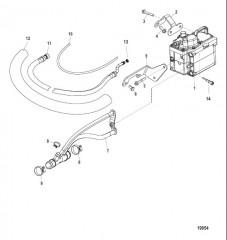 Схема Система охлаждения топлива С/н 1A349419 и ниже