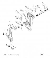 Схема Транцевые кронштейны