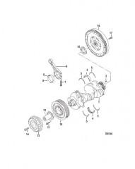Схема ENGINE COMPONENTS Crankshaft/Connecting Rod Bearings
