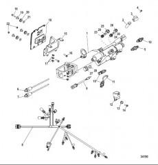 Схема Силовой привод рулевого механизма, Axius (Gen I) Вворачиваемые датчики