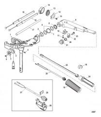 Поворотная головка и рукоятка рулевого механизма