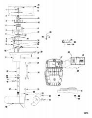 Схема Двигатель для тралового лова в сборе (Модель L52ES / AG52ES) (12 В)