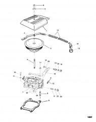 Схема Карбюратор и тяга газа (Четырехдиффузорный)