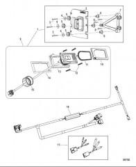 Комплект системы управления дифферентом Active Trim Одинарный двигатель – 150 EFI четырехтактн./Optimax