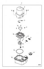 Схема Компоненты насоса системы дифферента и двигателя
