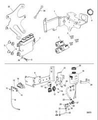 Электрические компоненты PCM, автоматический выключатель, бачок смазки