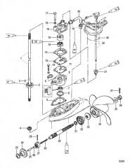 Схема Компоненты картера редуктора