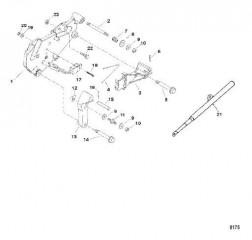 Схема Кронштейн переключения передач (Исп. с крышкой коромысла из штампованной стали)
