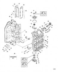 Схема Блок цилиндров в сборе
