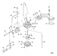 Схема Карбюратор Все модели: сер. номер 0R318095 и ниже