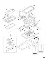Схема Корпус водометного привода (Серийный номер от 0E203000 до 0E344999)