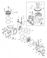 Схема Компоненты воздушного компрессора С/н 1B884477 и выше