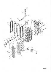 Блок цилиндров в сборе (Сер. № от 0E173428 до 0E287999)