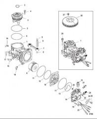 Схема Компоненты воздушного компрессора 250 С/н 1B885131 и ниже