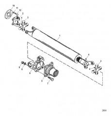 Ведущий вал и натяжное устройство (Карданная передача)