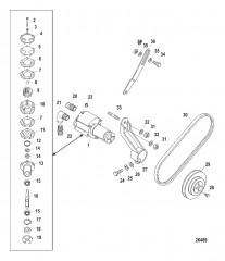 Схема Насос для забортной воды в сборе