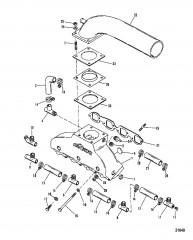 Схема Выхлопной коллектор / коленчатый патрубок (Система 425 GIL)
