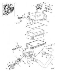 Схема Промежуточный охладитель в сборе 1100