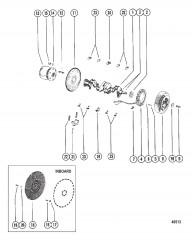 Схема Коленчатый вал, маховик и генератор