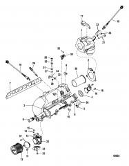 Схема Впускной/выхлопной коллектор и корпус дроссельной заслонки