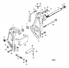 Схема КРОНШТЕЙН ТРАНЦА (С/Н USA-0G589999/BEL-9973099 И НИЖЕ)