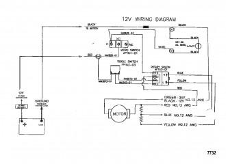 Схема электрических подключений (Модель HVF5000 / HVF5200) (12 В)