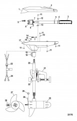 Двигатель для тралового лова в сборе (Brute 36HT) (12 В)