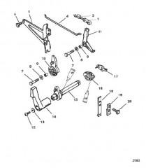 Схема Тяга газа/тяга управления переключением передач