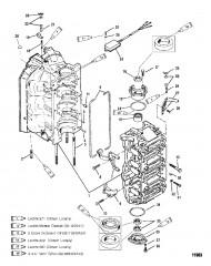 Схема Блок цилиндров и колпачки