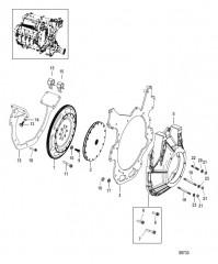 Схема Маховик и опоры
