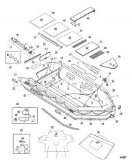 Схема Модель Heavy Duty XS 415 (Алюминиевый настил, красный)