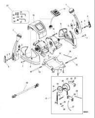 Пульт управления яхтой – DTS Сдвоенная дроссельная заслонка, с панелью CAN