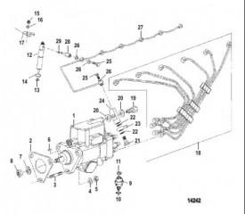 Схема Инжекторный насос Форсунка и трубы