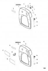 Схема Внутренняя транцевая плита Мокрый поддон SSM VI и VII (до 1998 г.)