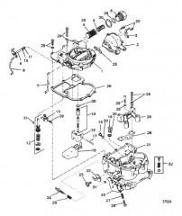 Схема КАРБЮРАТОР (MERCARB – 2 ДИФФУЗОРА)