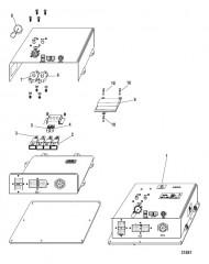 Схема Электрические компоненты Интерфейсная панель судна (VIP) (24 контакта)