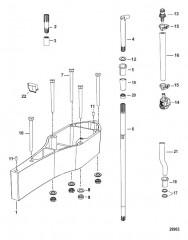 Схема Комплект проставок Коробка передач
