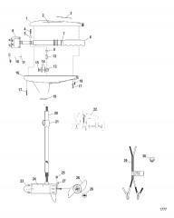 Двигатель для тралового лова в сборе (Модель TT3000) (12 В)