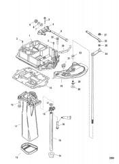 Схема Пластина выхлопа (С/н USA-0T800999/ BEL-0P267999 и ниже)