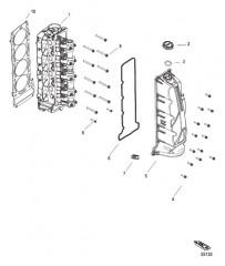 Схема Головка цилиндра и крышка распределительного вала