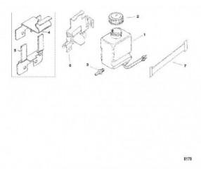 Схема Масляный бак и кронштейн