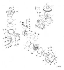 Схема Компоненты воздушного компрессора (Конструкция II)