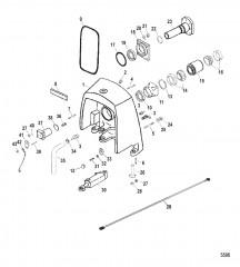 Корпус кардана в сборе Карданная передача, (мокрый и сухой поддон)