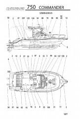 Схема МОДЕЛЬ 750 COMMANDER (Поворотно-откидная колонка)