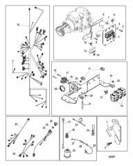 Схема Электрические компоненты Механический (с/н 1A343327 и ниже)