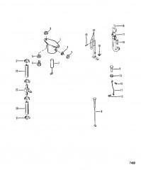 Схема Тяга карбюратора/электромагнит пускового обогатителя