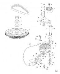 Схема Электрические компоненты (Маховик / генератор)